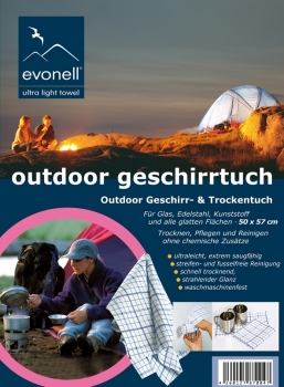 Outdoor-Geschirrtuch 5er Pack, bluesquare,  50 x 57 cm